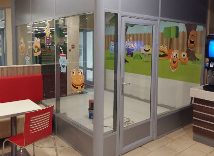 детская комната для Бургер Кинга